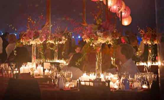 Candle light wedding