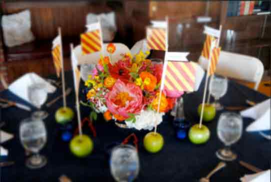 Wedding rehearsal dinner decorations