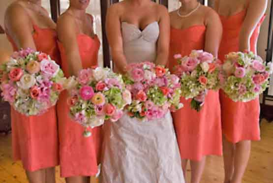 Bouquets Bridesmaid S Flowers Wedding Ideas Coral Wedding Colors