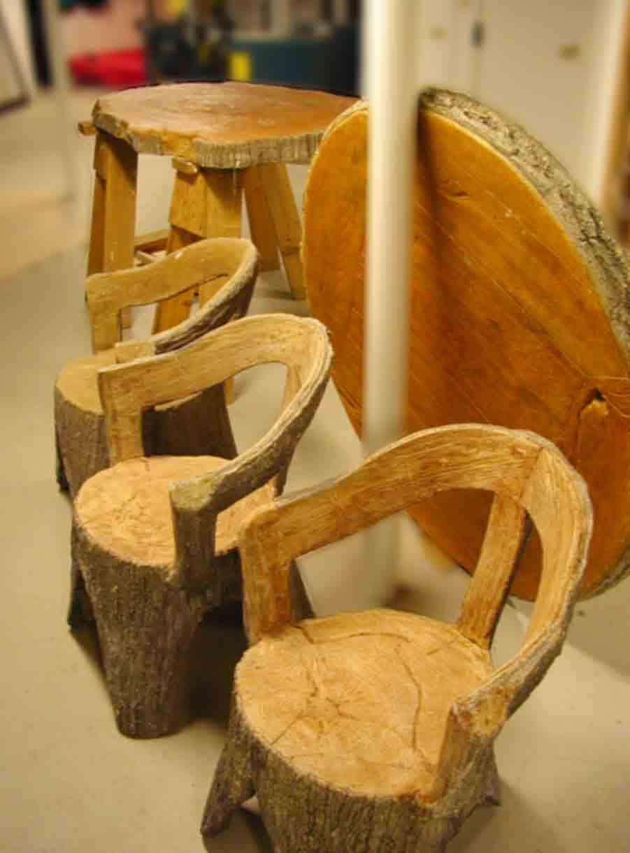 Cement Faux Bois Preceded Concrete Sculpture