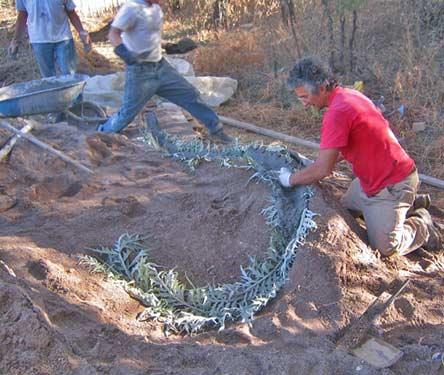 Concrete Sculpture Earth Molding Sand Molding